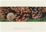 Embossed Pinecones Season's Greeting Card