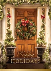 Holiday Door - Holiday Greeting Card