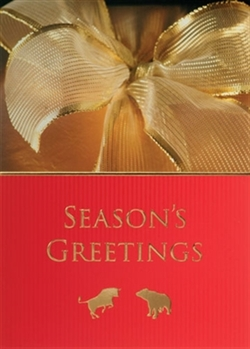 Bull and Bear Season's Greetings Holiday Card