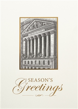 Holiday Greetings Gold Wall Street Card