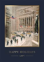 Wintry Wall Street Holiday Card - PREMIUM