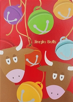 Jingle Bulls with Foil Holiday Card