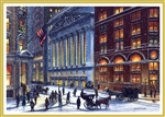 Wall Street Circa 1905 Holiday Card
