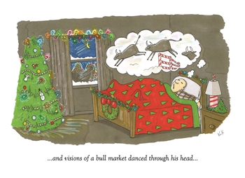 Bull Market Dreams Holiday Card