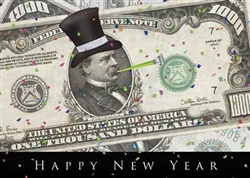 A Grand Happy New Year Greeting Card