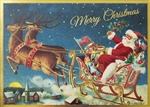 Retro Merry Christmas Card