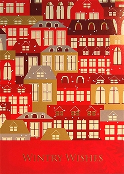Red Folk Art Town