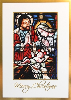 Stained Glass Nativity