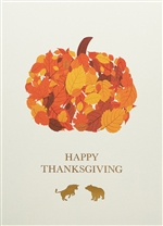 Fall Leaf Pumpkin Thanksgiving Card