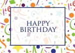 White Confetti Birthday Card
