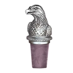 Bald Eagle Pewter Wine Bottle Stopper - Handmade in the USA