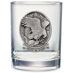 United We Stand Bald Eagle Whiskey Glasses