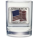 Land of the Free - American Flag Whiskey Glasses - Set of 2