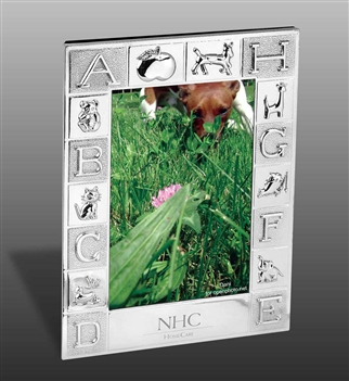 Silver-Plated ABC Photo Frame - Holds 5 x 7 image