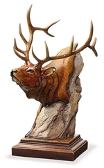 Power Play - Elk Sculpture