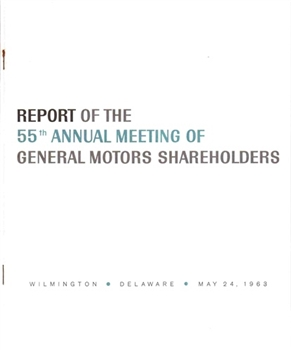 Report of the 55th Annual Meeting of General Motors Shareholders