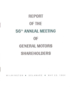 Report of the 56th Annual Meeting of General Motors Shareholders
