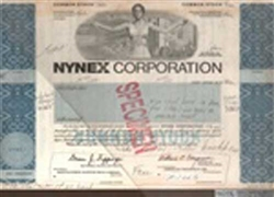 NYNEX Corporation Stock Certificate Mock-up