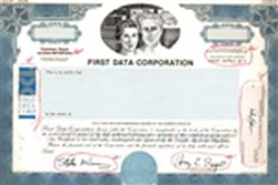 First Data Corporation Stock Certificate Mock-up