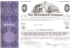 The B.F. Goodrich Company Stock Certificate