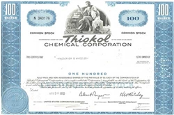 Thiokol Chemical Corporation Stock Certificate