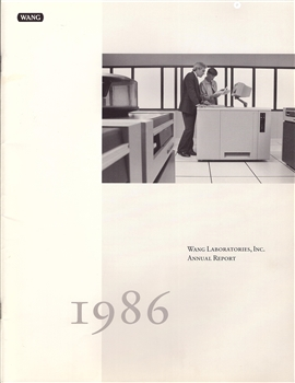1986 Wang Laboratories Inc. Annual Report
