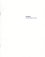 2012 Facebook Annual Report