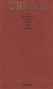 """Trusts"" booklet by EF Hutton"