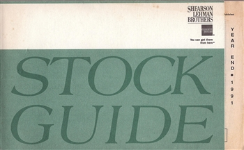 1991 Shearson Lehman Brothers Stock Guide