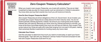Shearson Lehman Hutton Zero Coupon Calculator