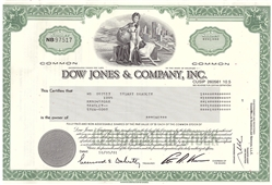 Dow Jones and Company Inc. Stock Certificate