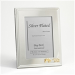 Silver Plated Bull & Bear Picture Frame