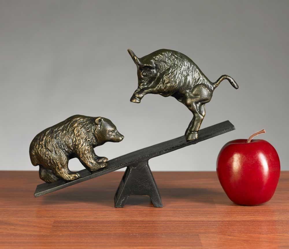 Teeter Totter Bull Amp Bear Sculpture Bull And Bear See Saw