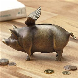 """When Pigs Fly"" Piggy Bank"