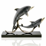 Sailor's Delight Double Dolphins Sculpture