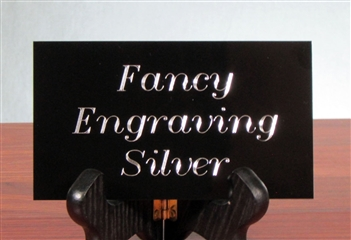 "Silver Engraved Plate Up To 4""-8"" - Free Shipping"