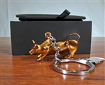 The Wall Street Bull Keychain