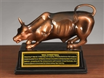 The Wall Street Bull Statue - Bronze Finish - 8 Inch