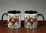 The Wall Street Bull Coffee Mug Set - Black