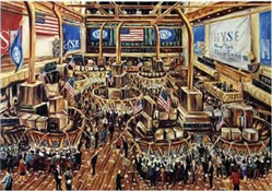 Stock Exchange by John Abed Print