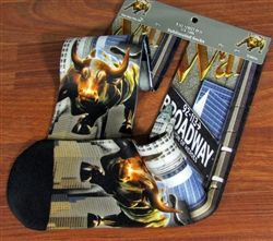 The Wall Street Bull Socks
