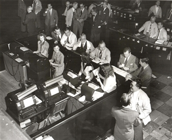 Chicago Tribune Photo Archive – Midwest Stock Exchange Order Desk