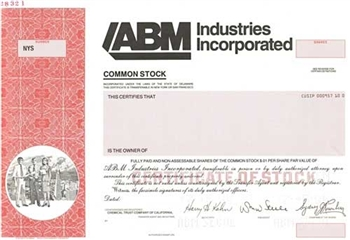 ABM Industries Inc. Specimen Stock Certificate