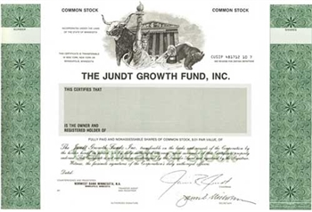 The Jundt Growth Fund Specimen Stock Certificate