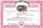 Ruby Mining Company Specimen Stock Certificate