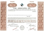 Vail Associates, Inc. Specimen Stock Certificate - Brown