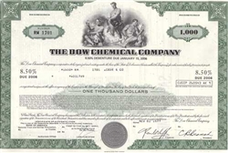 Dow Chemical Stock Certificate
