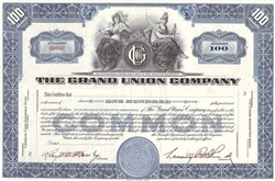 The Grand Union Company Specimen Sock Certificate