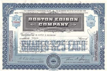 Boston Edison Company Stock - Blue