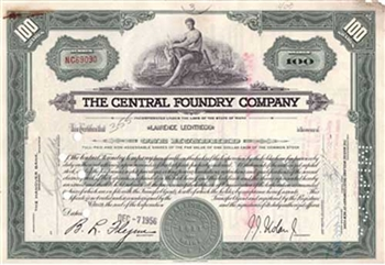 The Central Foundry Company Stock - Green